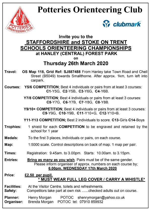 Staffordshire and Stoke-on-Trent Orienteering Championships